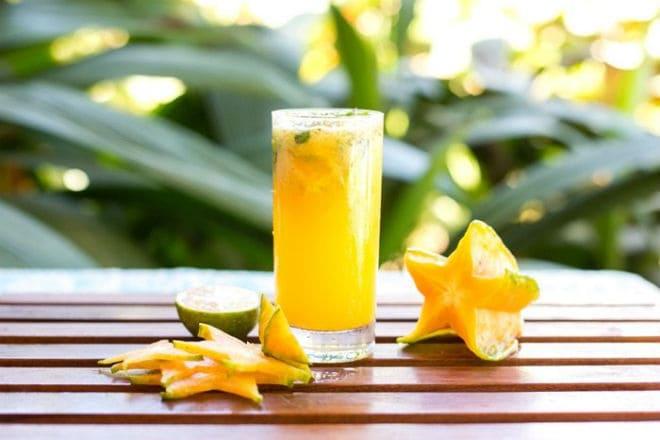Сок из мякоти старфрута