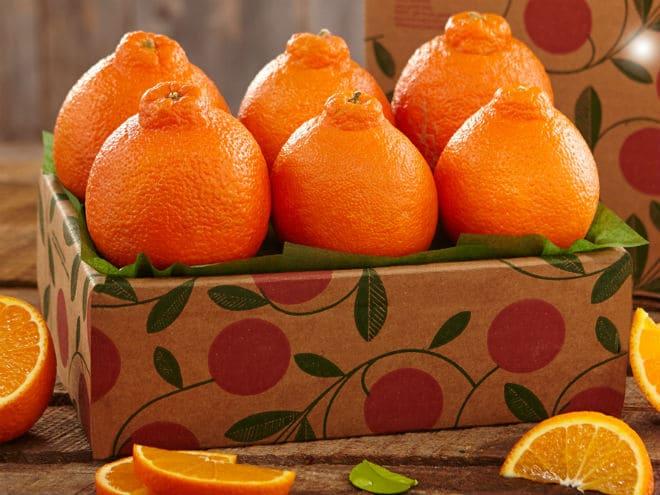 Плоды танжело минеолы в коробке