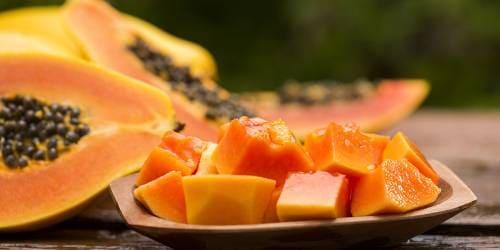 Кусочки папайи