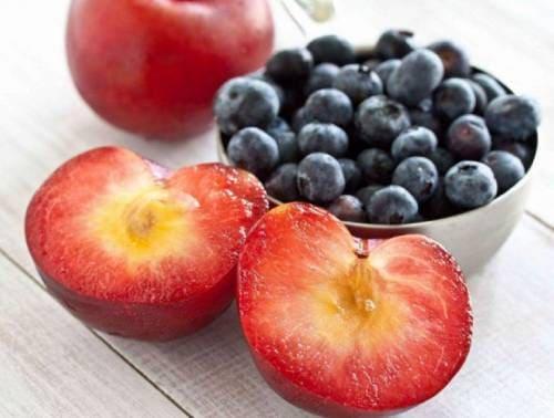 Плоды плумкота на столе
