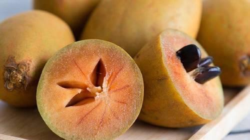Как выглядит фрукт чику в разрезе